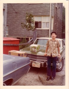 채영세씨 with Dodge Duster, Chicago 1974