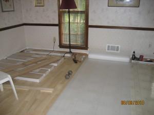 flooring during