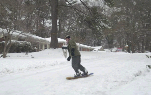Atlanta snow day fun 2011