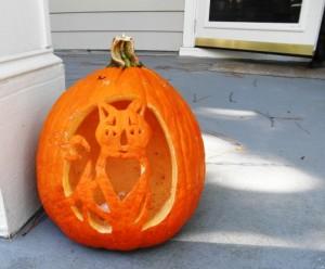작은 딸, Vonnie(나라니)의 pumpkin art, 2011