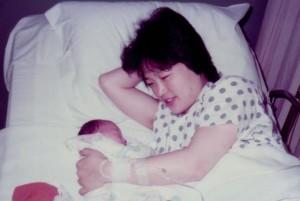 엄마와 첫 생명과의 첫 만남