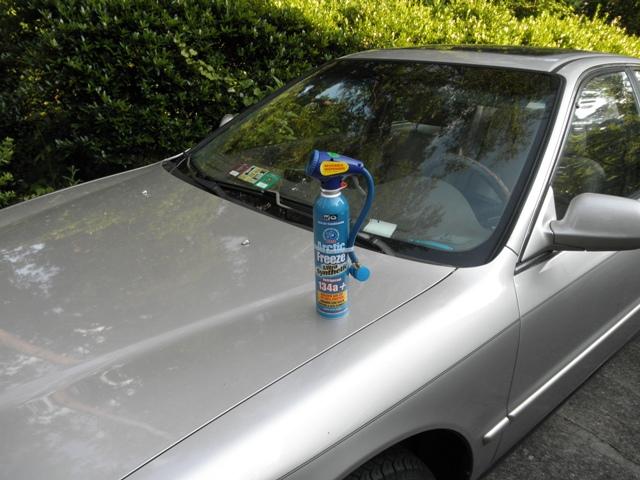 DIY Freon recharge kit, Arctic Freeze on Honda Accord