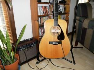 Personally amplified YAMAHA guitar