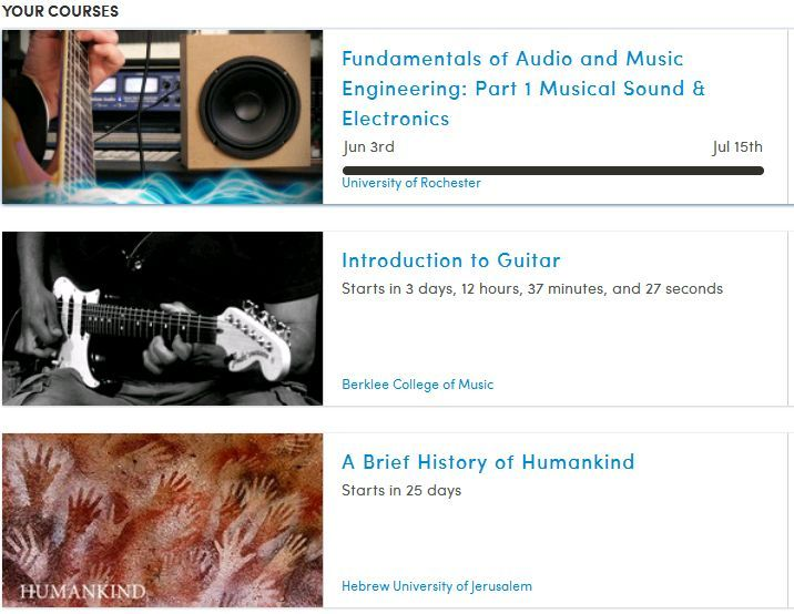 My current & upcoming courses from Coursera