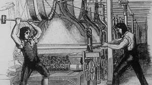 섬유공장 기계를 부수는 Luddites