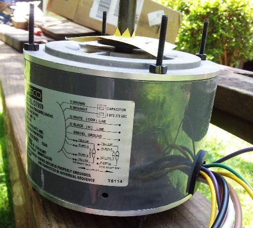 Brand new condenser fan motor